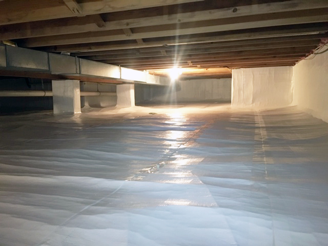 northern michigan crawlspace encapsulation project